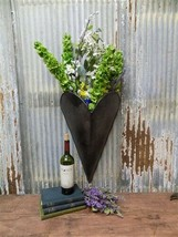 Galvanized Metal Wall Planters, Rustic Hanging Wall Bucket, Wall Sconce, - $150.00