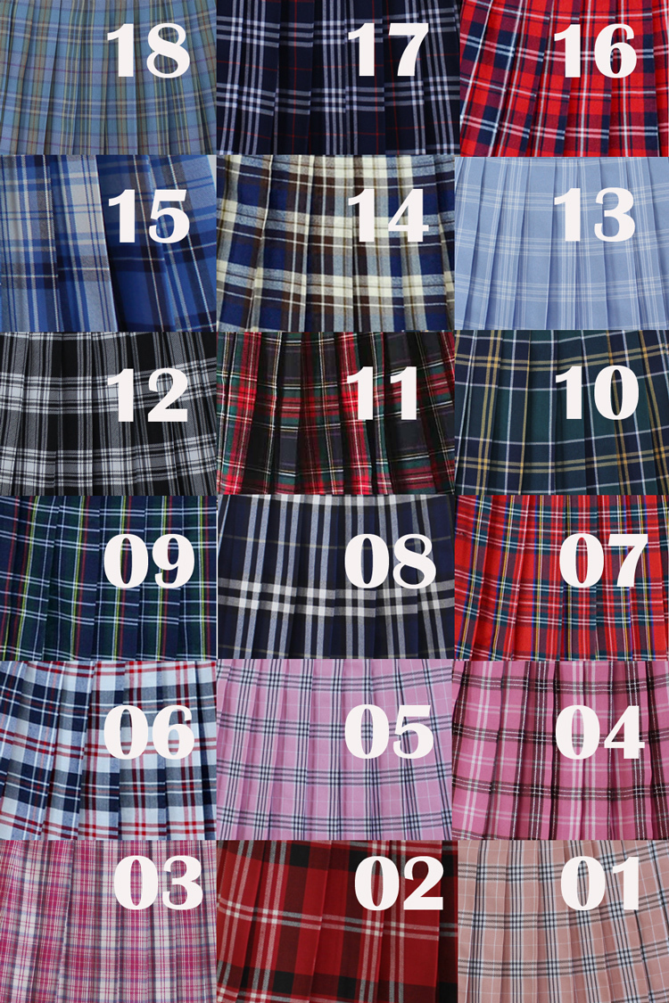 Dark Green PLAID SKIRT School Plus Size Mini Plaid Skirts Women Pleated Skirts