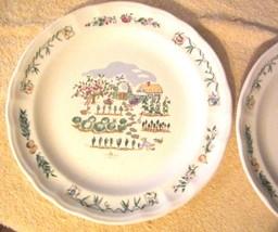 "Pfaltzgraff Apple Valley Stoneware Dinner Plates Lot of Two 11"" Diameter EUC - $17.72"