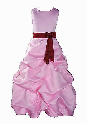 Per Bambina Da Festa Damigella Vestito Per Spettacolo 1-13 Y Rosa+Fascia image 4