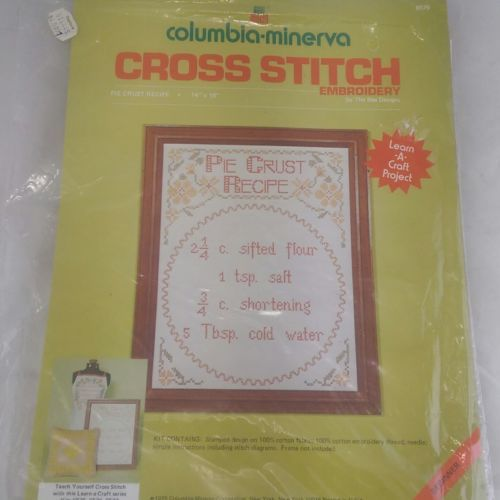 Stamped Cross Stitch Embroidery Kit Pie And 50 Similar Items