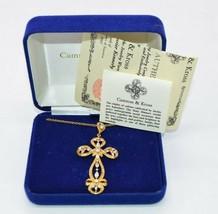 Camrose and Kross Jacqueline Kennedy JBK Clear Rhinestone Cross Crucifix... - $98.99