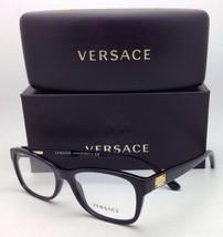 New VERSACE Eyeglasses VE 3184 GB1 54-16 140 Black Frames with demo lenses