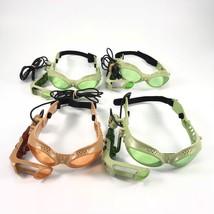 Hasbro Tiger Lazer Tag 4 Headsets Goggles Glasses Orange Green  - $29.69