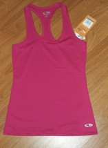 CHAMPION WORK OUT TOP SHIRT SIZE XS DARK PINK STRETCH NWT - $13.99