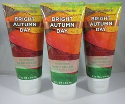 3 Bath & Body Works Nourishing Hand Cream 2 oz Bright Autumn Day - $39.99