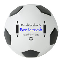 Personalized Custom Regulation Size Soccer Ball Bar Mitzvah Gift and Cen... - $59.95