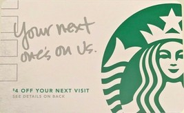 Starbucks 2017 Your Next One's On Us. Collectible Gift Card New No Value - $4.99
