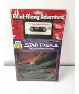 Vintage Star Trek The Wrath of Khan II Book Cassette Read-Along 1982    - $34.97