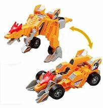 PANDA SUPERSTORE Deformable Dinosaur Toy Car for Children,Yellow