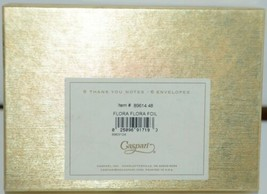 Caspari 89614 48 Flora Foil Blank Inside 6 Thank You Notes and Envelopes image 2