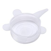 (white)6PCS/Set Universal Silicone Suction Lid-bowl Pan Cooking Pot Lid-si - $30.00