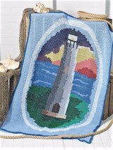 Z492 Crochet PATTERN ONLY Harbor Light Lighthouse Afghan Pattern - $7.50