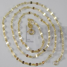 SOLID 18K YELLOW GOLD FLAT BRIGHT KITE CHAIN 20 INCHES, 2.2 MM MADE IN I... - $172.00