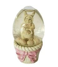 Dept 56 Easter Snowbunnies A Tisket a Tasket Snow Globe Egg - $10.00
