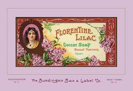 Florentine Lilac Toilet Soap by Buedingen Box & Label Co. - Art Print - $19.99+