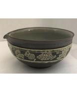 Vtg MCM Mid Century Danish Scandinavian Pottery Carved Fish Owl Etc Bowl... - $44.55
