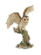 Veronese Design Owl Spreading Wings on Perch Statue - $33.19