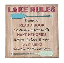 """Ganz 14"""" Lake Rules Wood Sign with Canoe Paddle Images - $29.21"""
