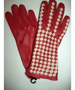 Ladies Leather Driving Gloves,Large, Red-see description for pics - $20.78