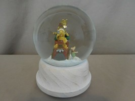 Disney Classic Pooh Winnie the Pooh + Tigger Train Piglet Glass Snow Globe RARE  - $33.68