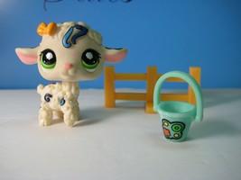 1068 Lamb / Sheep with 'tattoos' Postcard Pets Littlest Pet Shop LPS + accs - $6.16
