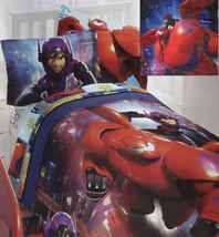Disney Big Hero 6 Superheroes Twin Comforter Sheets Sham 5PC Bedding Set New - $122.10