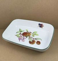 """Royal Worcester Oven To Table Fruit Pattern Green Trim Baker Dish 10-1/2"""" - $18.66"""