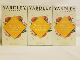 Yardley London MANDARIN GINGER Bar Soap 4.25 Oz.each bundle lot of 3 Bars - $14.84