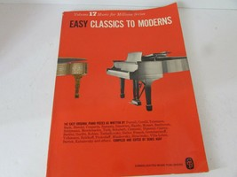 VTG SHEET MUSIC BOOK EASY CLASSICS TO MODERNS VOL.17 CONSOLIDATED MUSIC ... - $14.80