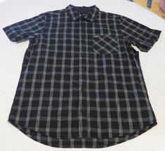 Hurley M Carlsbad SS Mens surf skate button up shirt 00A black MVS000433... - $69.29