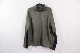 Nike Mens XL Half Zip Therma Fit Pull Over Fleece Lined Outdoor Jacket G... - $31.63