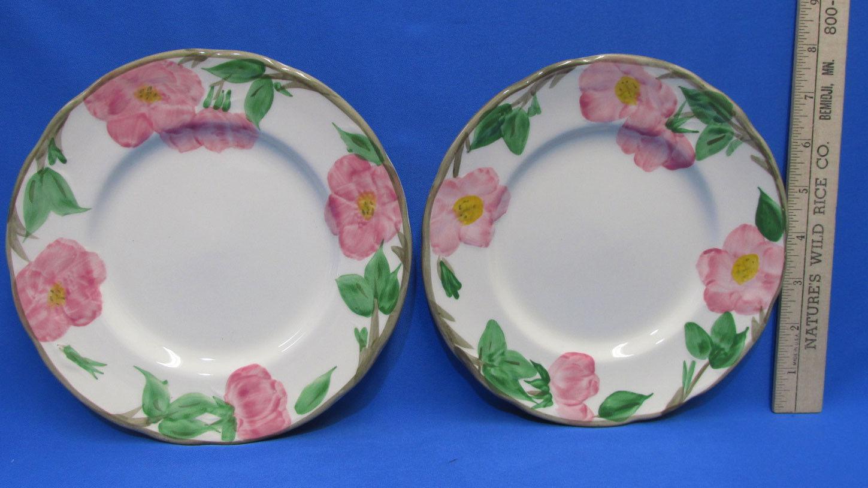 2 Vintage Franciscan Desert Rose Salad Dessert Plates Pink Green Cream & 2 Vintage Franciscan Desert Rose Salad and 17 similar items