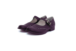 Royal Steps Tyrian Purple Mary Jane's Ankle Strap Premium Leather Women Shoes - $119.99 - $169.99