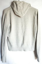 Garage Clothing Soft Fuzzy Gray Grey Hooded Knit Sweater Pullover Hoodie Size M image 2