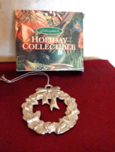 Silver plated Holiday Collectible Wreath Ornament (#2704) - €11,13 EUR