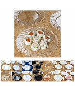 """60 PCS Round BPA Free Plastic Plate for Event Party Home TkVormart (6"""", ... - $37.62"""
