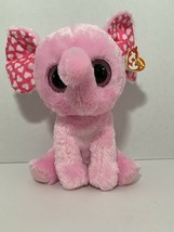 "Ty Beanie Boos baby plush pink elephant heart ears SUGAR plush 9"" large ... - £4.36 GBP"