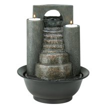 Tabletop Fountains, Small Indoor Water Fountain Tabletop With Candle Hol... - $46.99