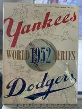 original 1952 world series programs - $148.50