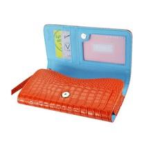 Alligator Orange Wallet Credit Card Case fits LG Tribute Dynasty (Sprint) - $19.79