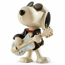 Lenox Peanuts Rockin Elvis Snoopy Figurine Cool Guitar Sunglasses Beagle... - $63.95