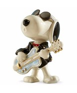 Lenox Peanuts Rockin Elvis Snoopy Figurine Cool Guitar Sunglasses Beagle... - $107.91