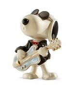 Lenox Peanuts Rockin Elvis Snoopy Figurine Cool Guitar Sunglasses Beagle NEW - $107.91
