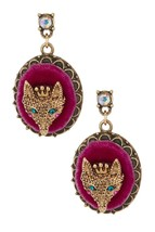 Betsey Johnson Gold-Tone Fox Oval Drop Earrings  NWT - $22.27