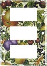 Art Plates - Crackle Fruit Switch Plate - Triple Rocker - $18.92