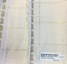 "Zweigart Silvretta Table Cloth Cream & Gold Metallic 28 Count Cross Stitch 55"" - $40.80"