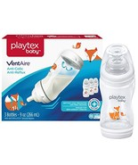Playtex Baby Ventaire Anti-Colic Anti-Reflux Bottle, Fox Decorated, 3 Count - $16.07