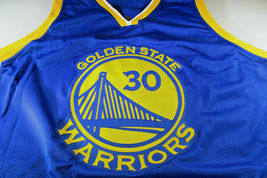 STEPHEN CURRY / AUTOGRAPHED GOLDEN STATE WARRIORS BLUE CUSTOM JERSEY / COA image 2