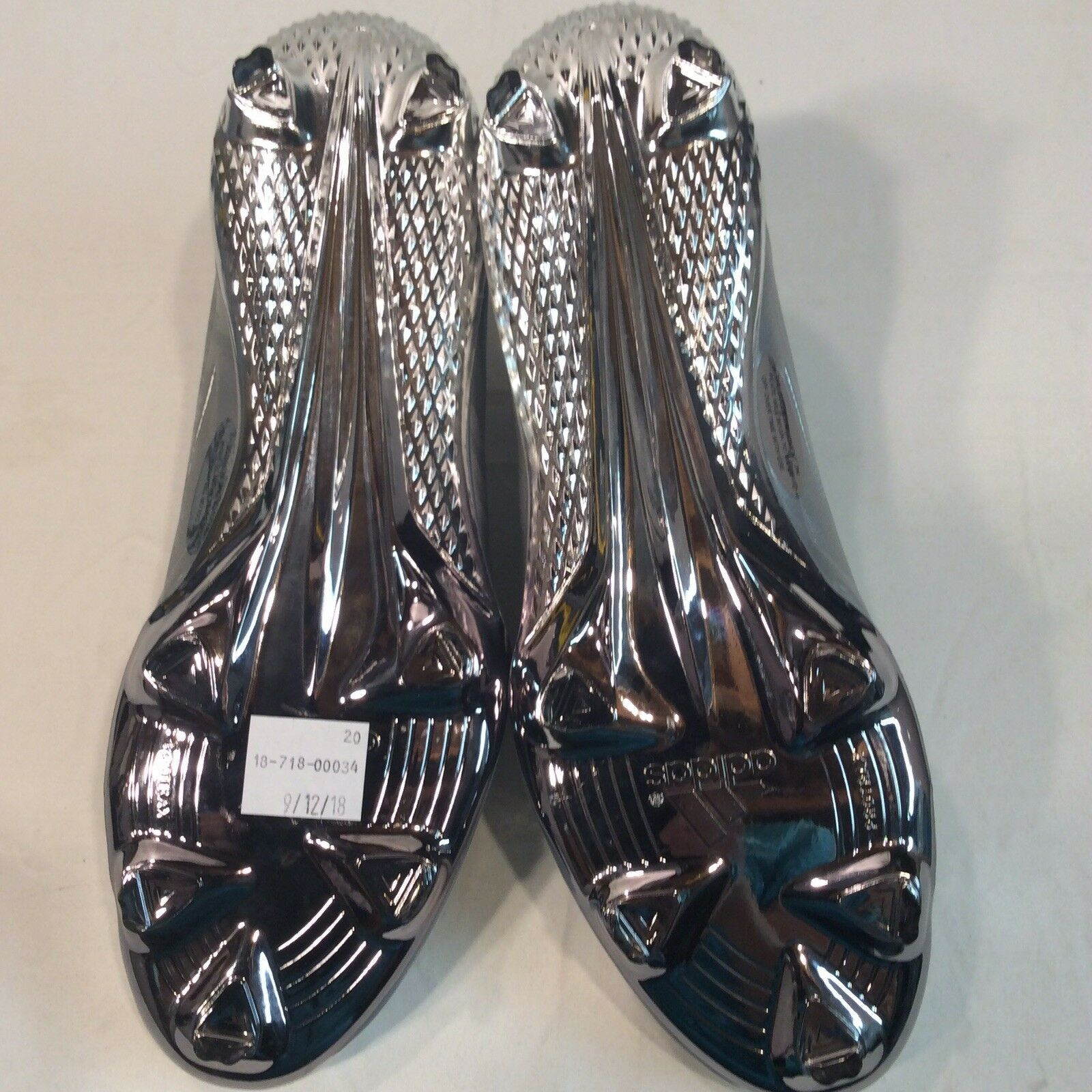 Adidas Adiizero Afterburner IV Silver Chrome 11.5 Baseball Cleat $120 CLEARANCE